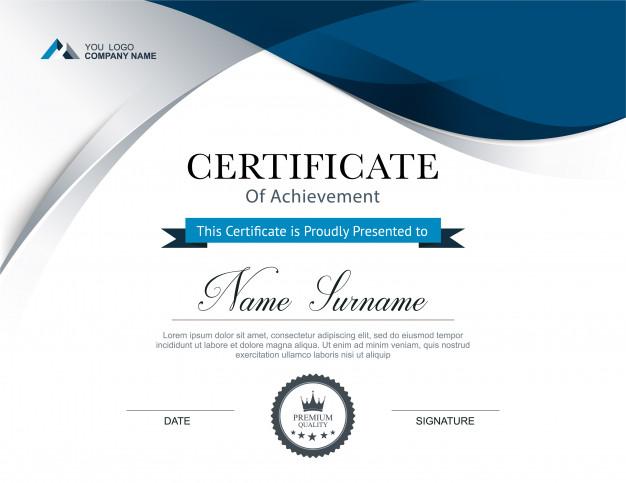 Certificaat maken sjabloon